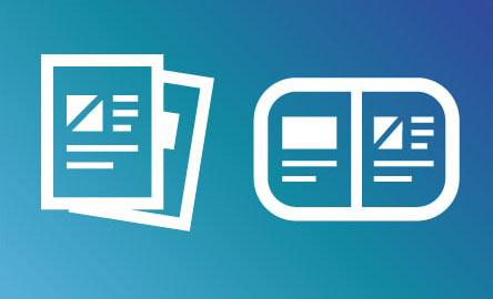 活用中のパンフレット・フライヤーなどを掲載に関する画像(ファイルドキュメントマークが表示されている)